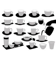 of cups vector image vector image