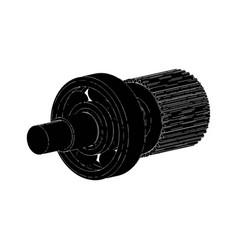 cogwheel and bearing vector image vector image