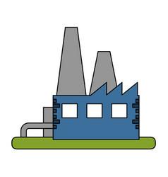 Color image building industrial factory vector