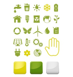 Environment and ecology icons set vector image vector image