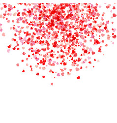 falling hearts background vector image