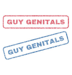 guy genitals textile stamps vector image vector image