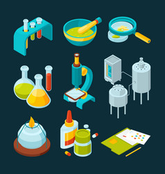 pharmaceutical and chemical industry isometric vector image vector image