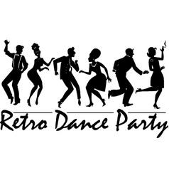 Retro dance party vector image vector image