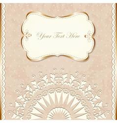 Romantic vintage border vector image vector image