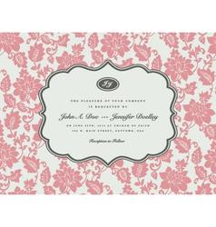 Wedding invitation templates vector