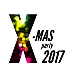 X-mas party with bokeh vector image vector image