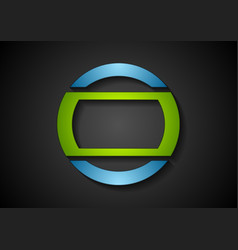 Abstract green blue geometric logo design vector image