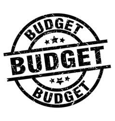 Budget round grunge black stamp vector