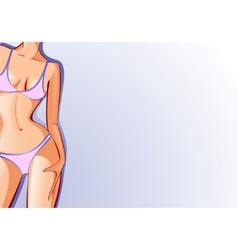 female body swimsuit vector image vector image