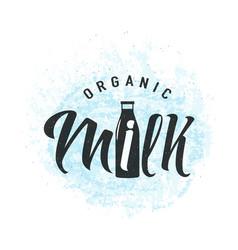 Fresh dairy milk logo vector