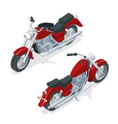isometric motorcycle or motorbike isolated on vector image