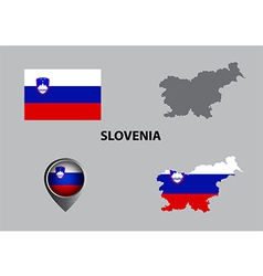 Map of Slovenia and symbol vector image vector image