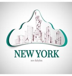 New york city emblem vector image vector image