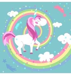 Unicorn Colored rainbow vector image