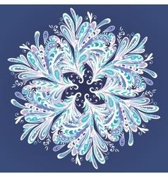 Winter Mandala vector image vector image