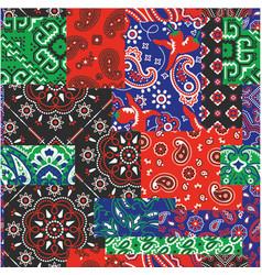 bandanna kerchief fabric patchwork vector image vector image