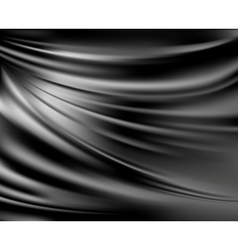 Black abstract satin curtain background vector image vector image