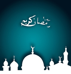 Elegant religious background with beautiful mosque vector image vector image