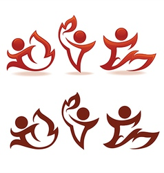 fire people vector image vector image