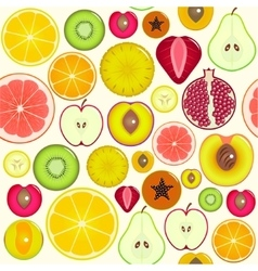 Fruit Slices Background Pattern vector image vector image