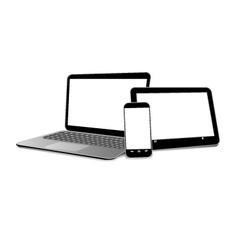 Set of modern gadgets vector image