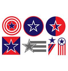american patriotic signs symbols icons set vector image