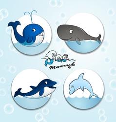 Animals Sea mammals vector image
