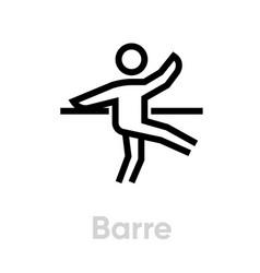 barre activity icon vector image