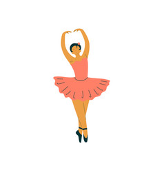 Beautiful professional ballerina dancing classical vector