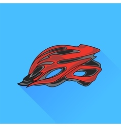 Bike Helmet vector image
