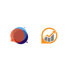 Business logo design and growth icon modern vector