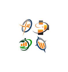 business success service set vector image