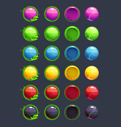Cartoon colorful round buttons vector
