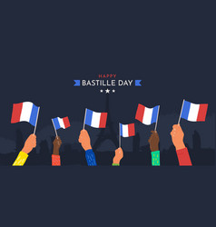 celebration happy bastille day july 14th vector image