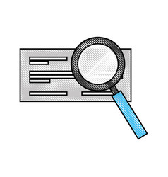 Check bank with magnifying glass vector