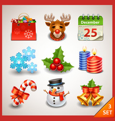 Christmas icon set-3 vector