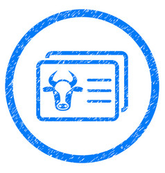 Cow account cards rounded grainy icon vector