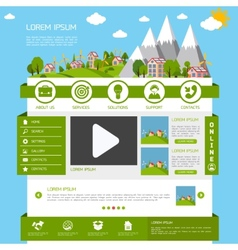 Eco website template vector
