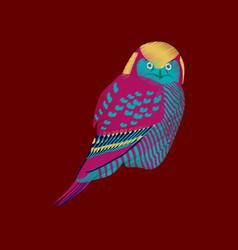Flat shading style icon owl vector