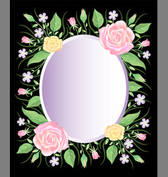 Flora frame watercolor style template decoration vector