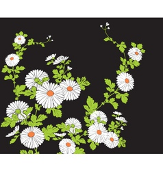 floral graphic vector image