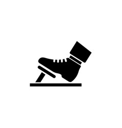 Gas pedal brake pedal icon vector