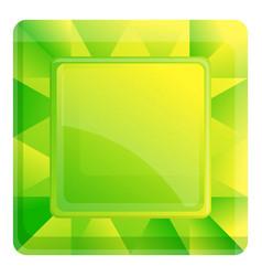 Green topaz icon cartoon style vector