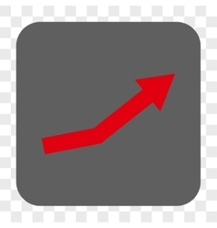 Growth Trend Rounded Square Button vector