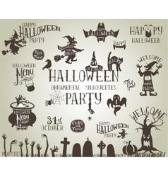 Halloween vintage banners vector