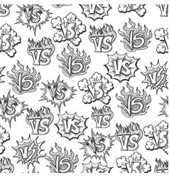 hand drawn versus seamless pattern vector image