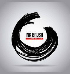 ink brush grunge paint element smear stain texture vector image