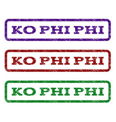 Ko phi phi watermark stamp vector