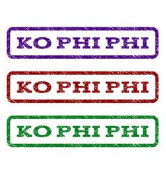 ko phi phi watermark stamp vector image